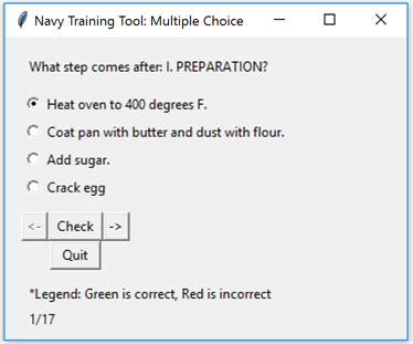 Navy Watchstander Training and Testing Tool
