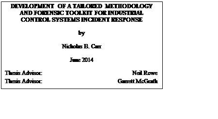 Development of a Tailored Methodology and Forensic Toolkit